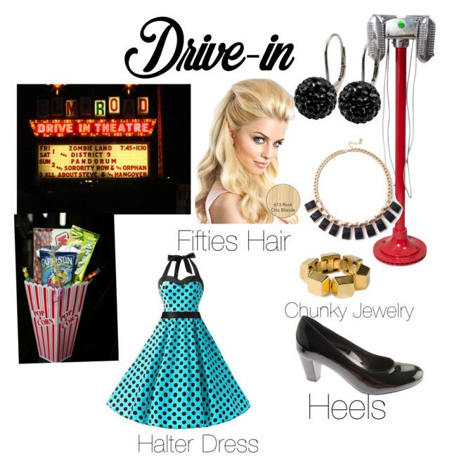 """""""Drive-In Romance"""" by melissa-paget on Polyvore featuring ara, Chicnova Fashion, Tresor Paris, Yves Saint Laurent, DateNight, drivein and summerdate"""