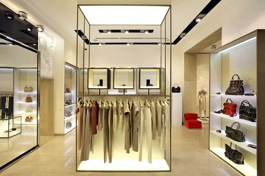 Mititique boutique 5 best dressed interiors of 2008 for Retail store interior design