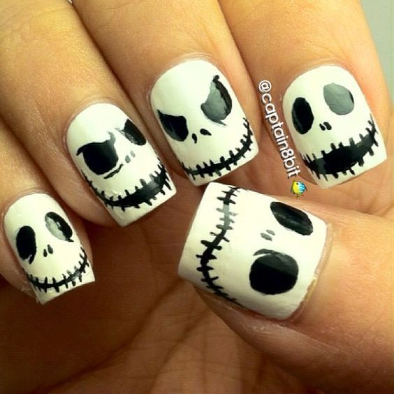 60 Easy Halloween Nail Art Designs For October | Easy halloween ...