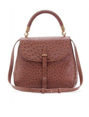 mytheresa.com - Yves Saint Laurent - OSTRICH LEATHER HANDBAG - Luxury Fashion for Women / Designer clothing, shoes, bags - StyleSays