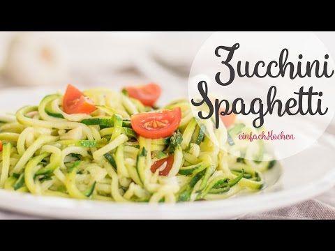 Zucchini Spaghetti Selber Machen Einfachkochen Youtube Vegan