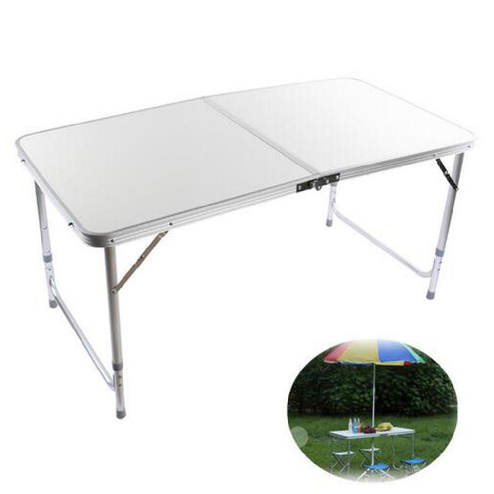 Silber Klapp Picknick Tisch 4ft Aluminium Klapp Tragbare Camping