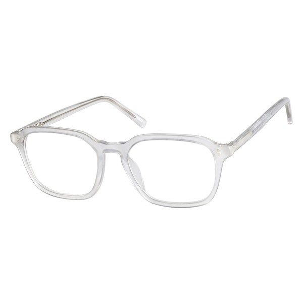 ff7e25d7af Zenni Square Prescription Eyeglasses Clear Plastic 4430623 in 2019 ...