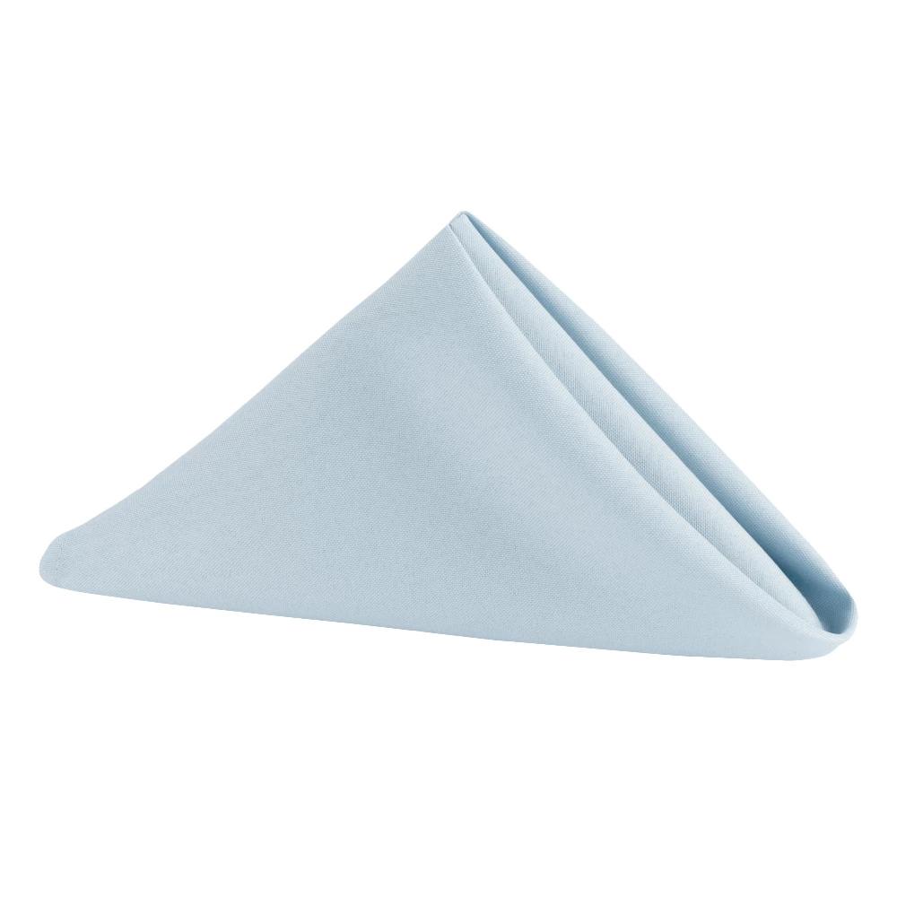 "17""x17"" Polyester Napkin Dusty Blue Blue cloth napkins"