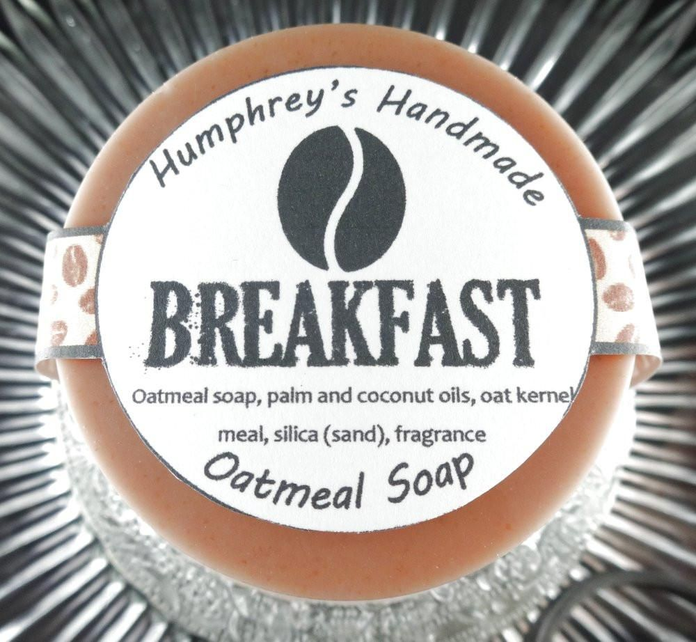BREAKFAST Exfoliating Oatmeal Soap Unisex Coffee Bean