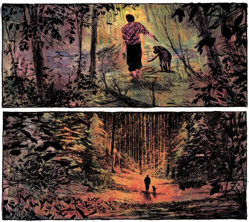 simonleclerc: I've been working on a graphic novel pitch in the last few days. Here is a preview of some of the panels.
