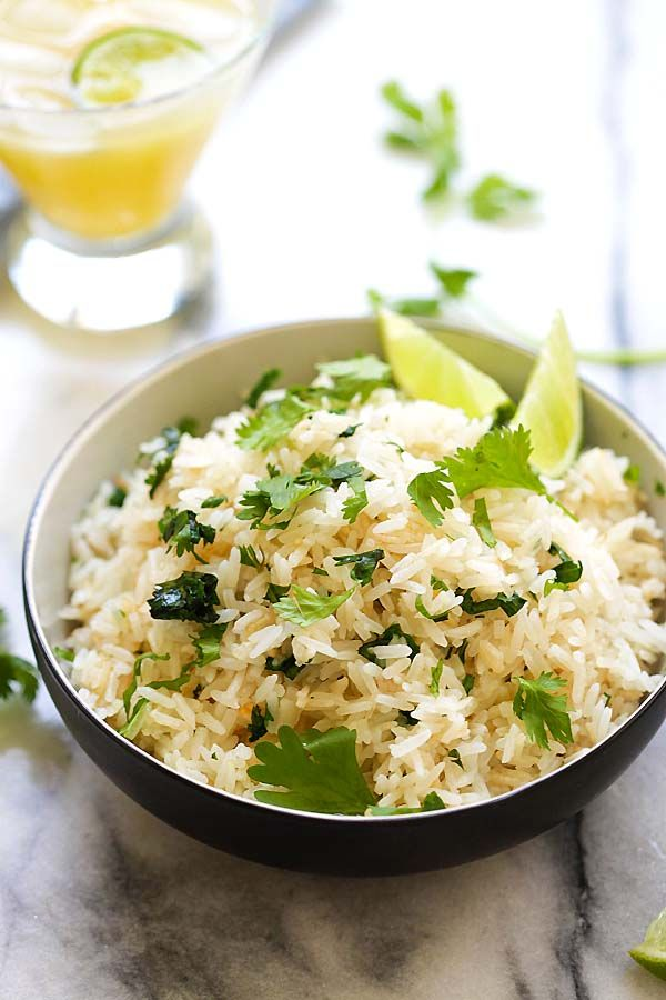 Cilantro Lime Rice - easy and delicious one-pot rice with cilantro, lime  juice and butter. This Mexican-inspired rice is better than Chipotle ...