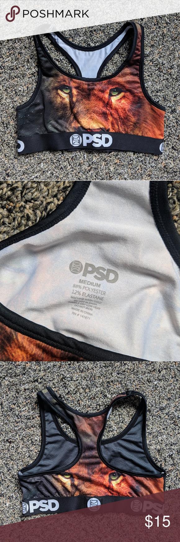 4f22a8ead1166 PSD Underwear Lion Sports Bra Unique PSD Underwear