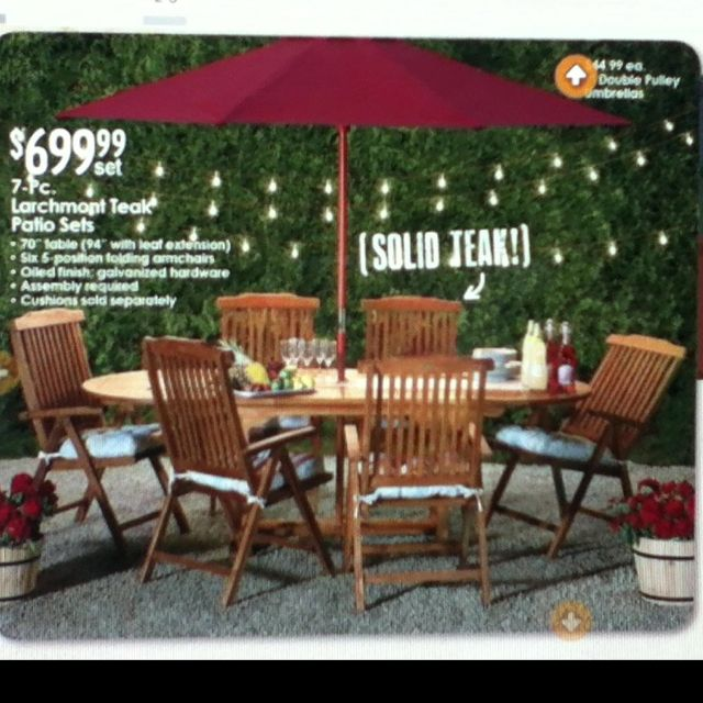 Astonishing 7 Pc Teak Outdoor Dining Set Via Christmas Tree Shops Download Free Architecture Designs Terchretrmadebymaigaardcom