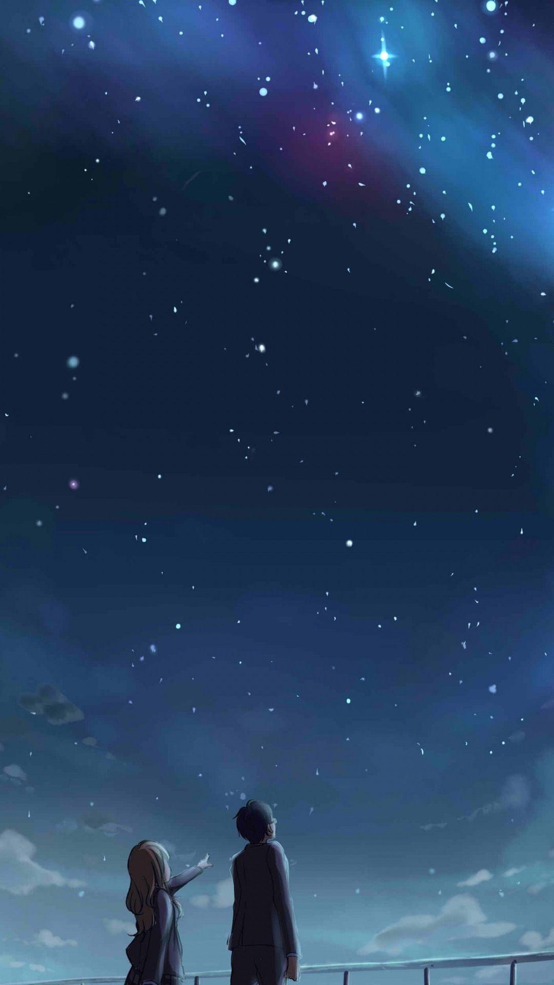 Buenas Noches Corazon Anime Scenery Couple Wallpaper Anime Background