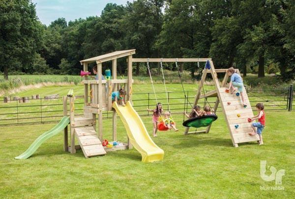 Torre Infantil Cascade Con Challengerel Parque Infantil Torre Cascade Con El Complemento Challenger D Parques Infantiles Columpios Para Niños Juegos De Patio