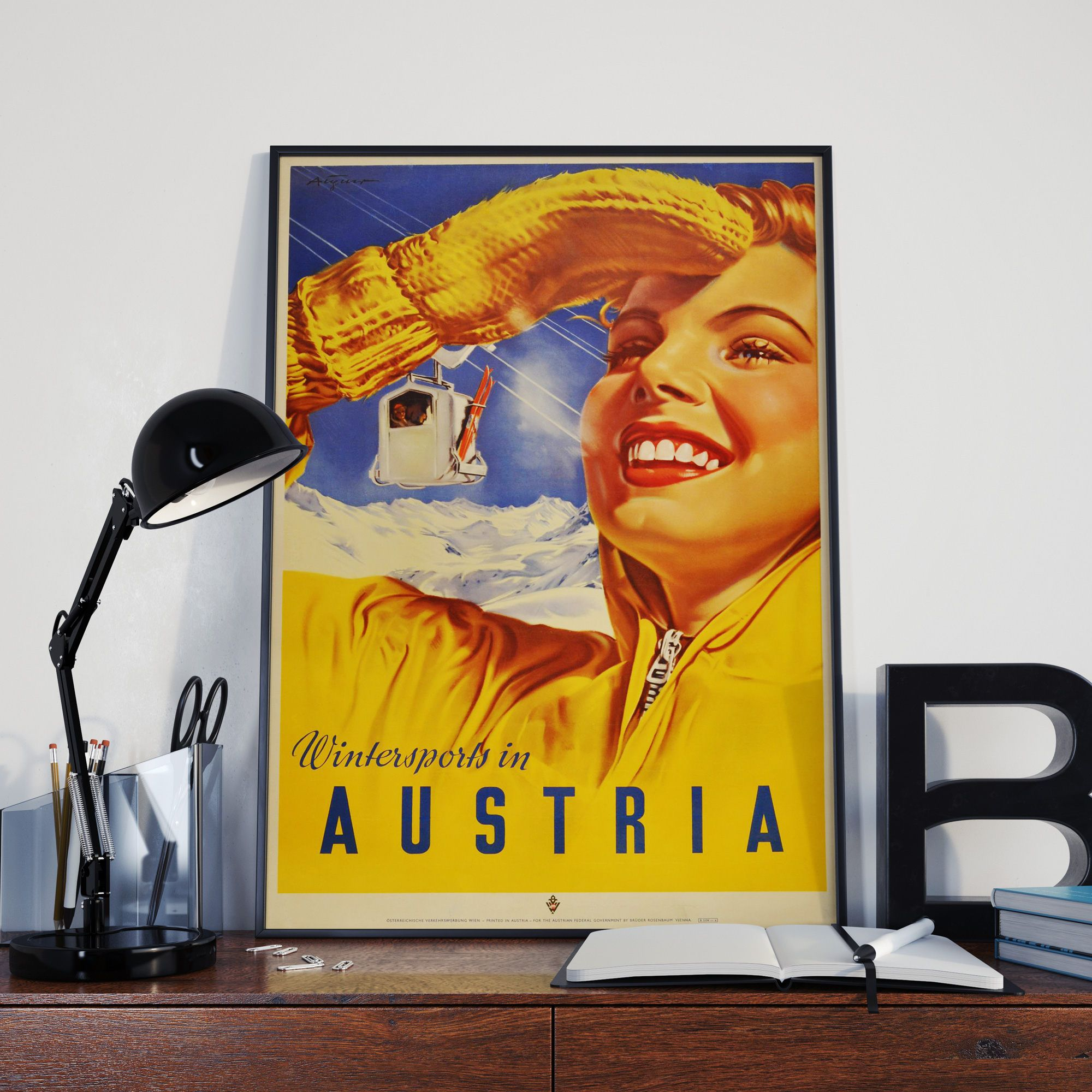 Austria Travel Poster Wall Art Austrian Wall Art Austrian Decor ...