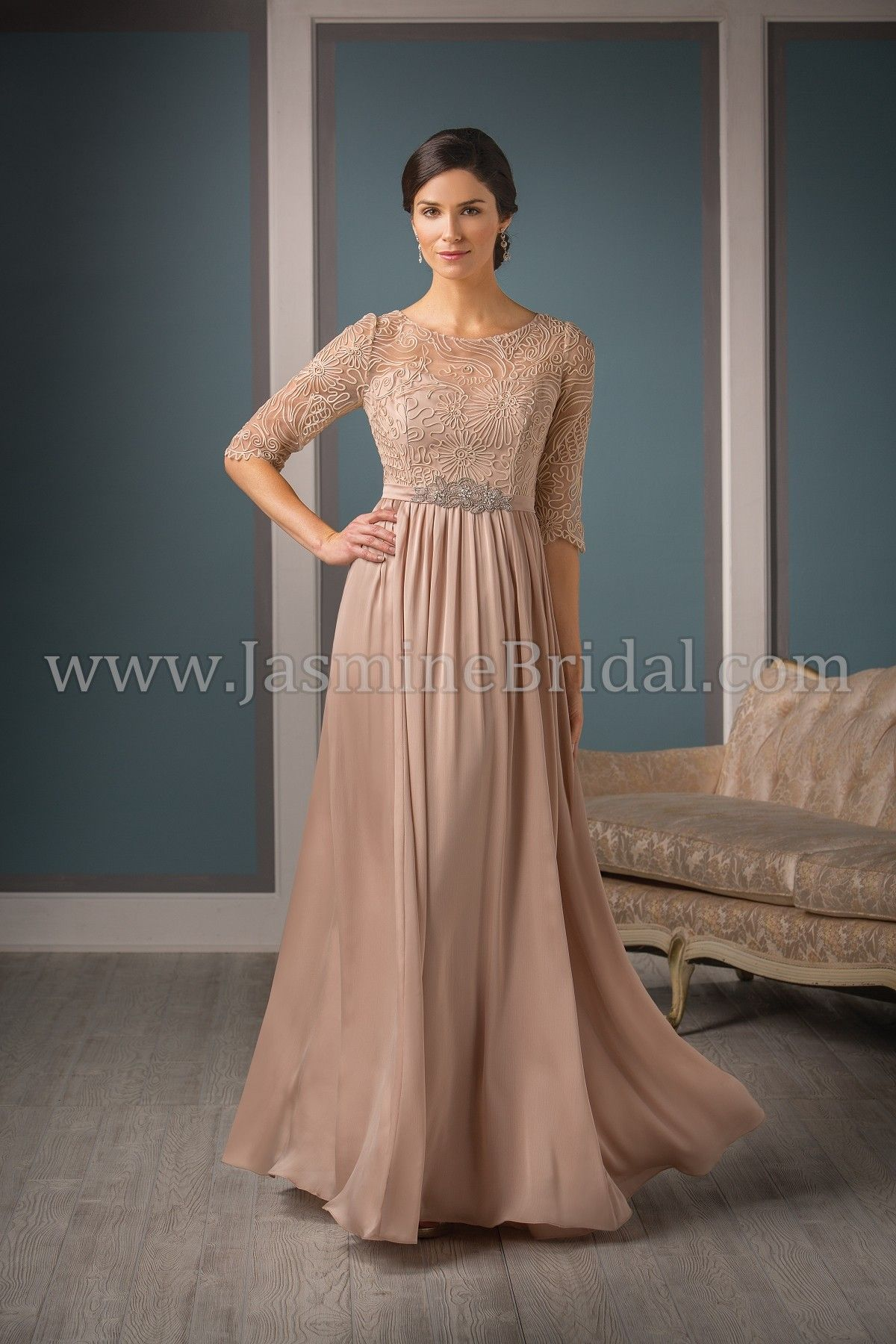 46af24dc76e Jasmine Bridal Jade Couture Style K188002 in Mica