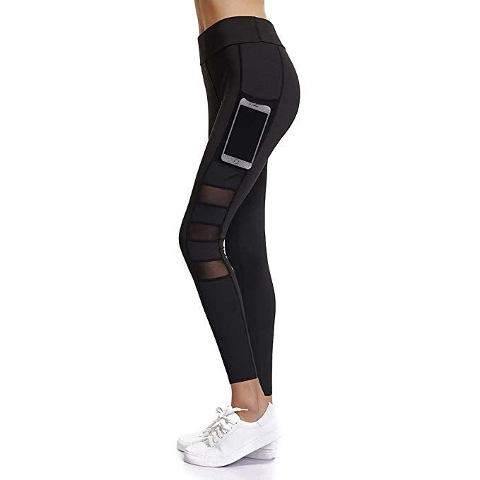 667c770cd046a Joyshaper Workout Capri Leggings with Pockets for Women Mesh Stretchy Yoga  Pants Gym Running Tights