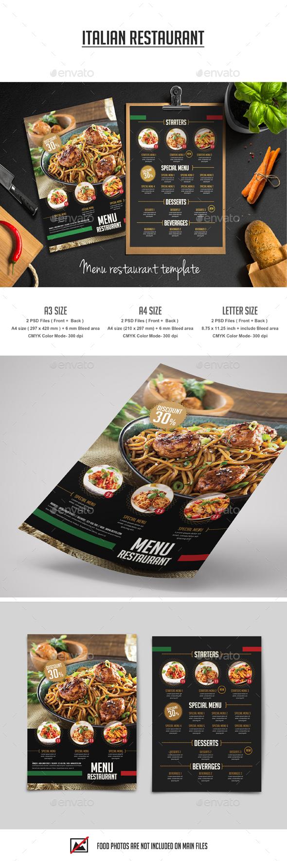 Italian Restaurant Flyer Template PSD. Download here: https://graphicriver.net/item/italian-restaurant-flyer/17548569?ref=ksioks