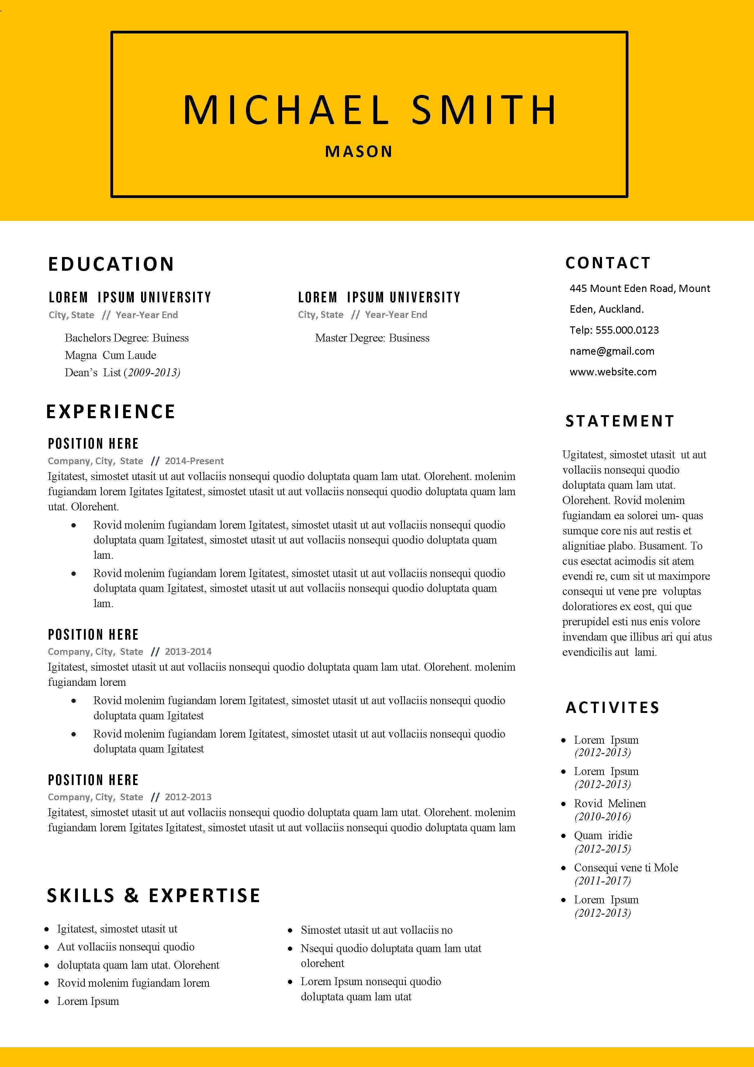 Free Mason Cv Resume Template Resume Template Resume Template Free Cv Resume Template