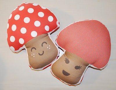 Doudou Loja: almofadas Cogumelos