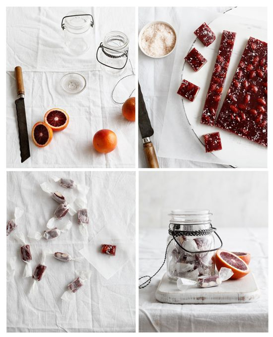 Blood orange caramels. Sounds good and look pretty..
