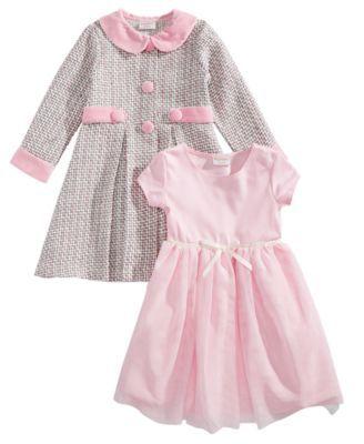 f44e8b38eb36 Blueberi Boulevard Toddler Girls 2-Pc. Tweed Coat & Dress Set - Pink 3T
