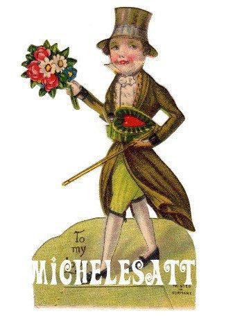 Vintage Valentine Digital Download by MichelesAttic on Etsy