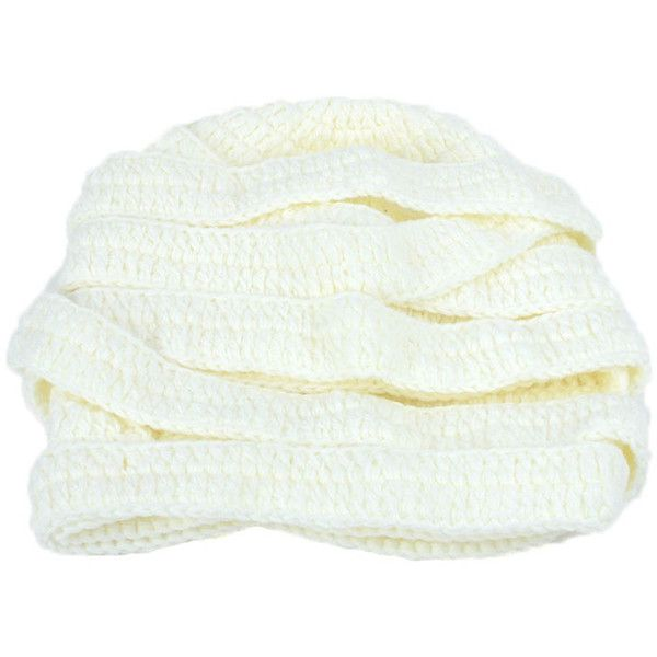 Stripy Knit Bandage Hat (720 RUB) ❤ liked on Polyvore featuring accessories, hats and knit hat