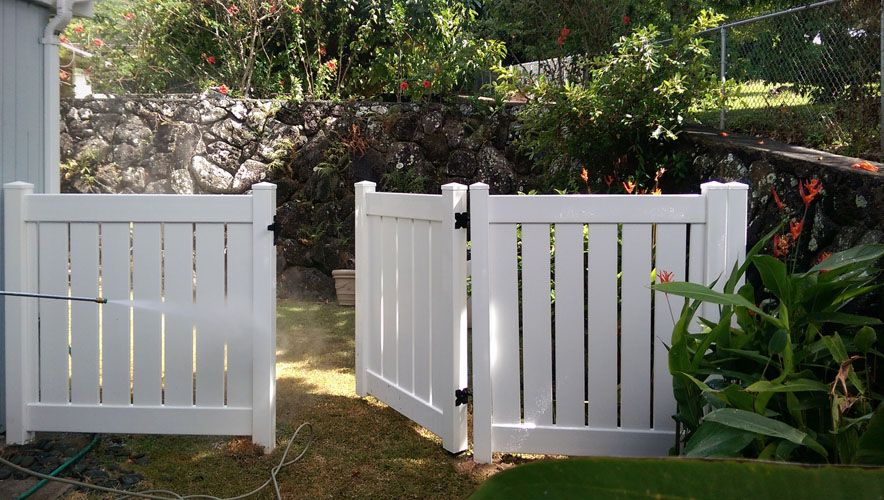 Vinyl Semi Private Half Fence White Vinyl Fence Vinyl Picket Fence Picket Fence Gate