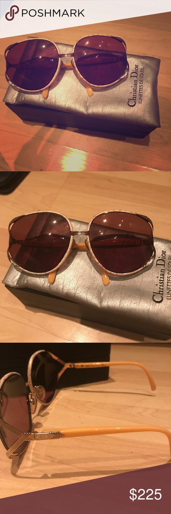 fe621b8b518e Vintage Christian Dior 2250 snakeskin sunglasses Vintage Christian Dior  sunglasses wrapped in snake skin. Christian Dior Accessories Sunglasses