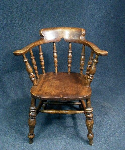 Phenomenal A Superb Antique Elm And Beech Smokers Bow Captains Desk Uwap Interior Chair Design Uwaporg
