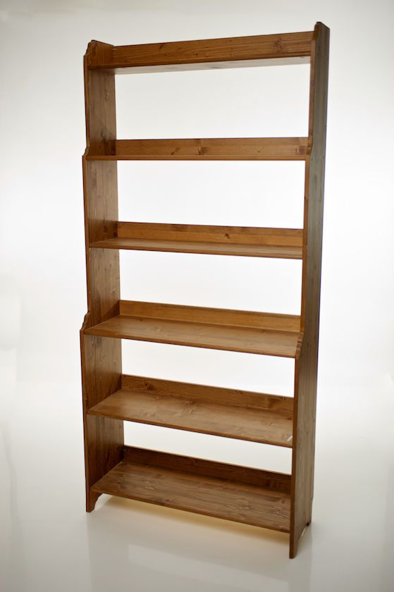 Ikea leksvik bookcase antique pine six shelves ebay for Pine desk ikea