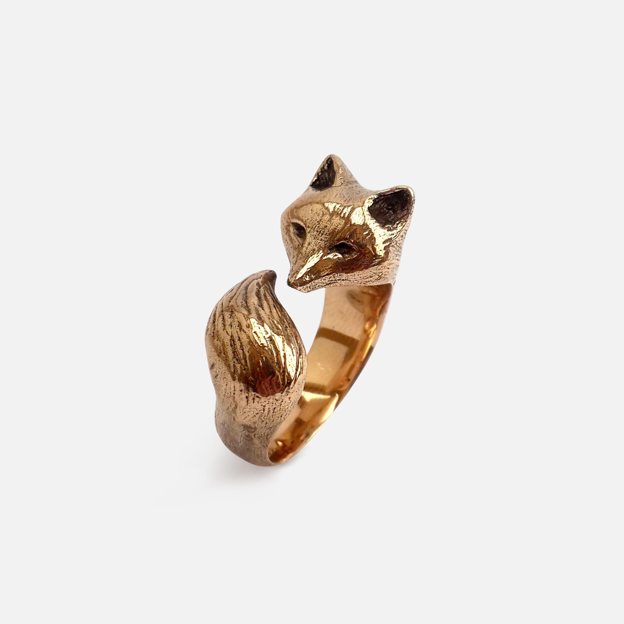 Folkloriikka Fox Ring in Bronze