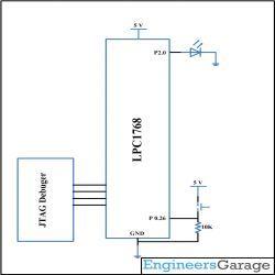 Circuit Diagram Using External Interrupts in LPC1768 | ARM Tutorial
