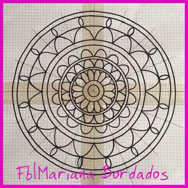 Diseño para bordar mandala - Fb Mariana Bordados   bordado mexicano ...