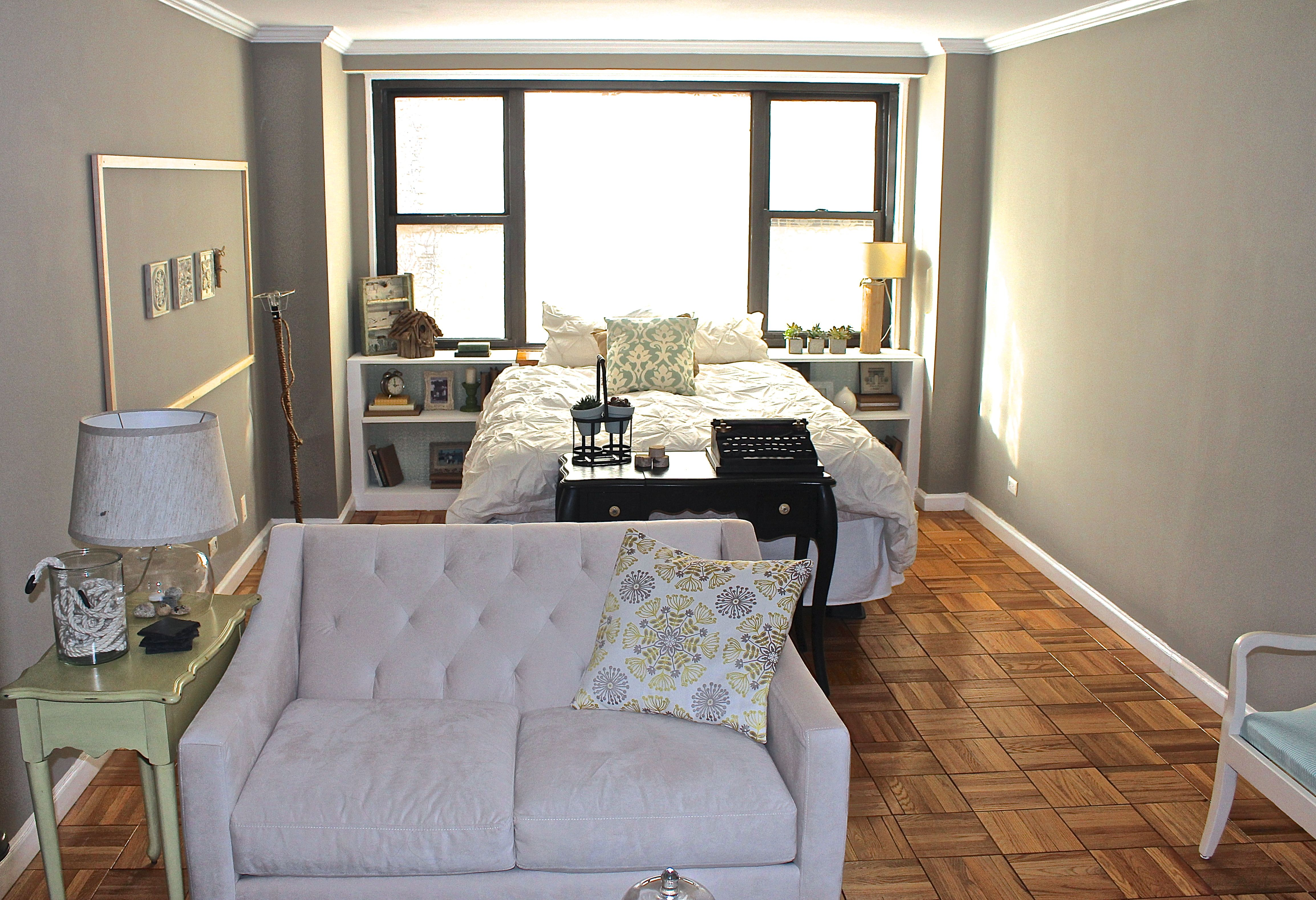 250 Sqf Efficiency Studio Apartment Living Room Decor