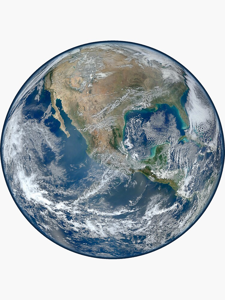 Earth From Space Detailed Sticker By Johnnet Earth View From Space Earth From Space Planets