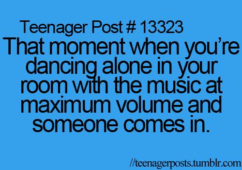 Teen post dancing