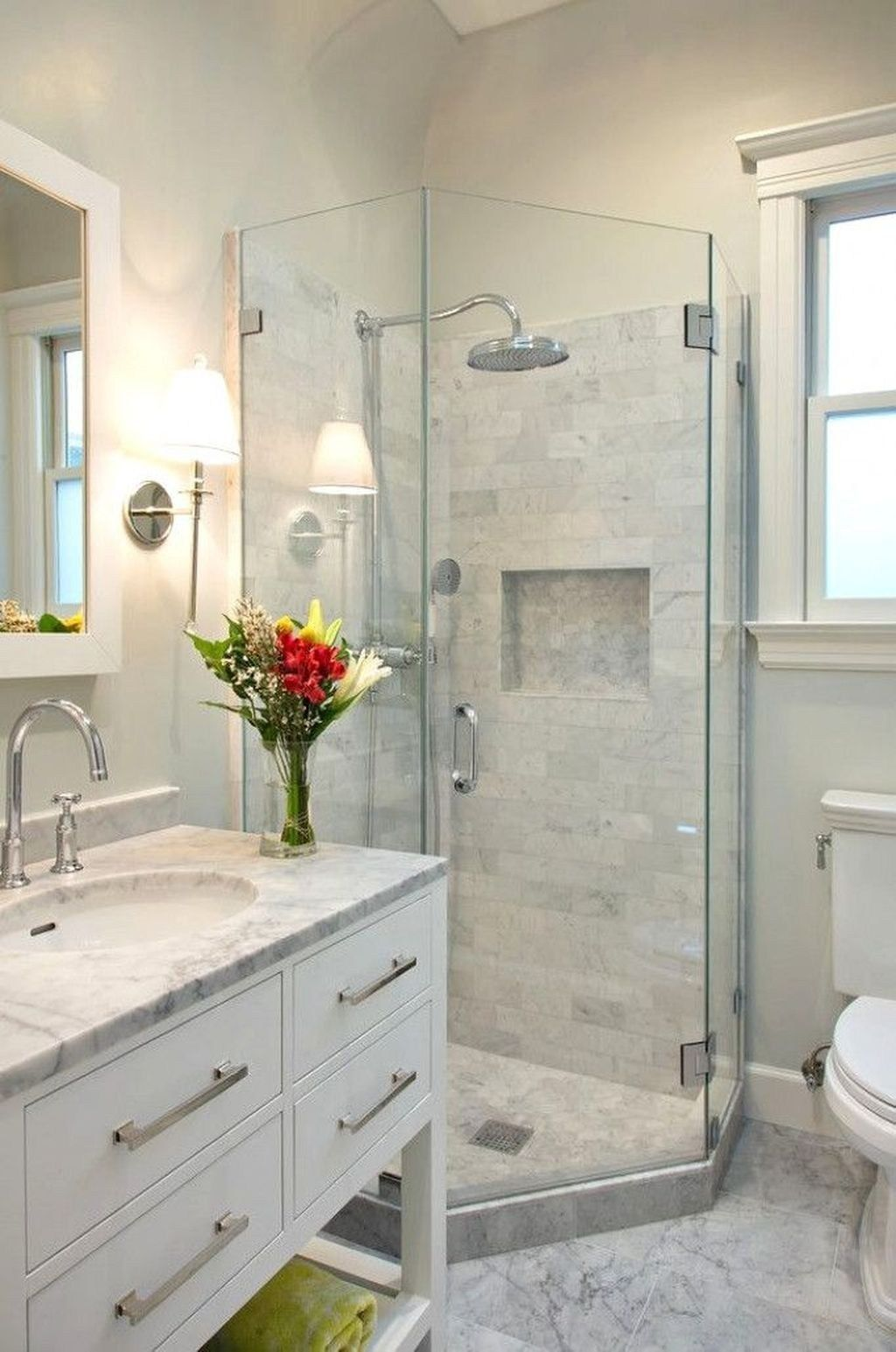 46 Beautiful Master Bathroom Remodel Design Ideas Bathroom Design Small Master Bathroom Shower Small Bathroom