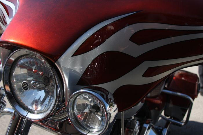custom paint jobs from dragonfly cycle concepts - harley davidson