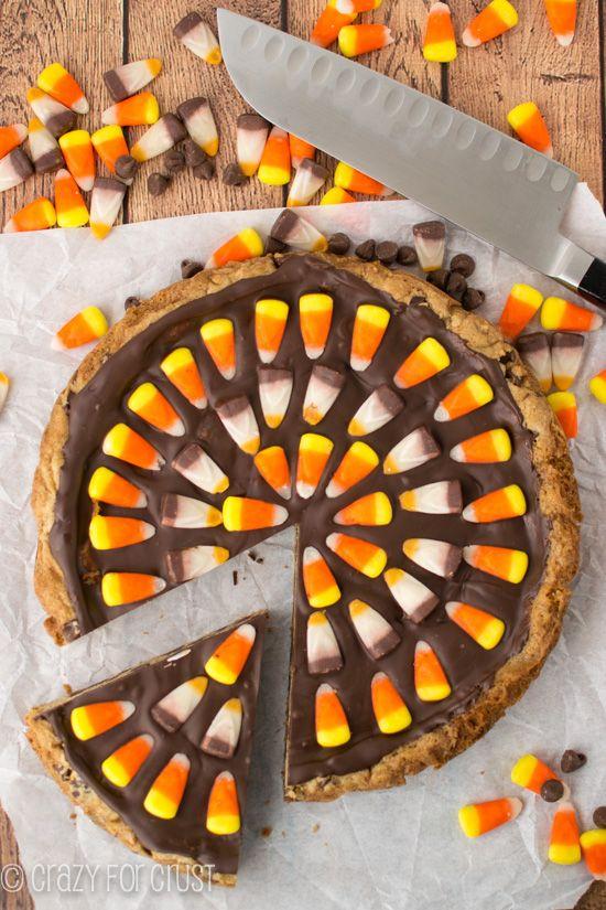 Harvest Chocolate Chip Cookie Cake | crazyforcrust.com