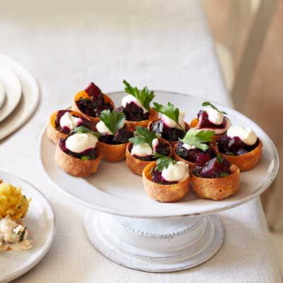 Beetroot croustades recipes in 2019 Christmas party