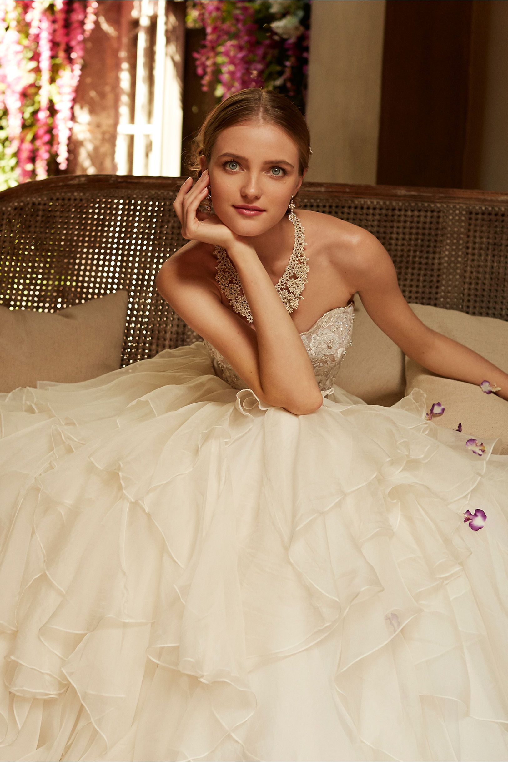 Wedding dress runaway bride  Maelin Corset and Priya Skirt from BHLDN Such a romantic gown  Say