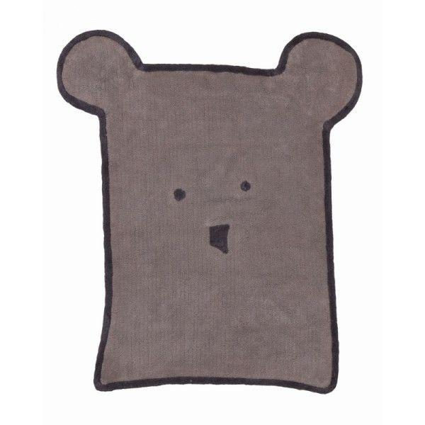 Tappeto lavabile in cotone a forma di orso. Lavabile in