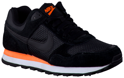Zwarte Nike Sneakers NIKE MD RUNNER #nike #sneaker #black #orange