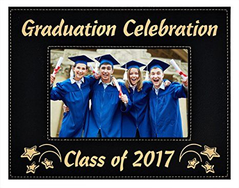 Graduation Celebration Class Of 2017 Custom Elegant Black Frame
