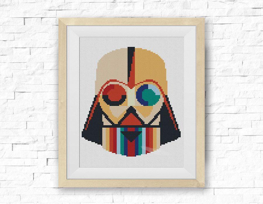 BOGO FREE! Darth Vader, Star Wars Cross Stitch Pattern Dark Side ...