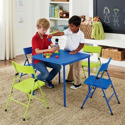 Cosco Kids Tables Chair Set 14325 5 Piece Kid S Table Folding