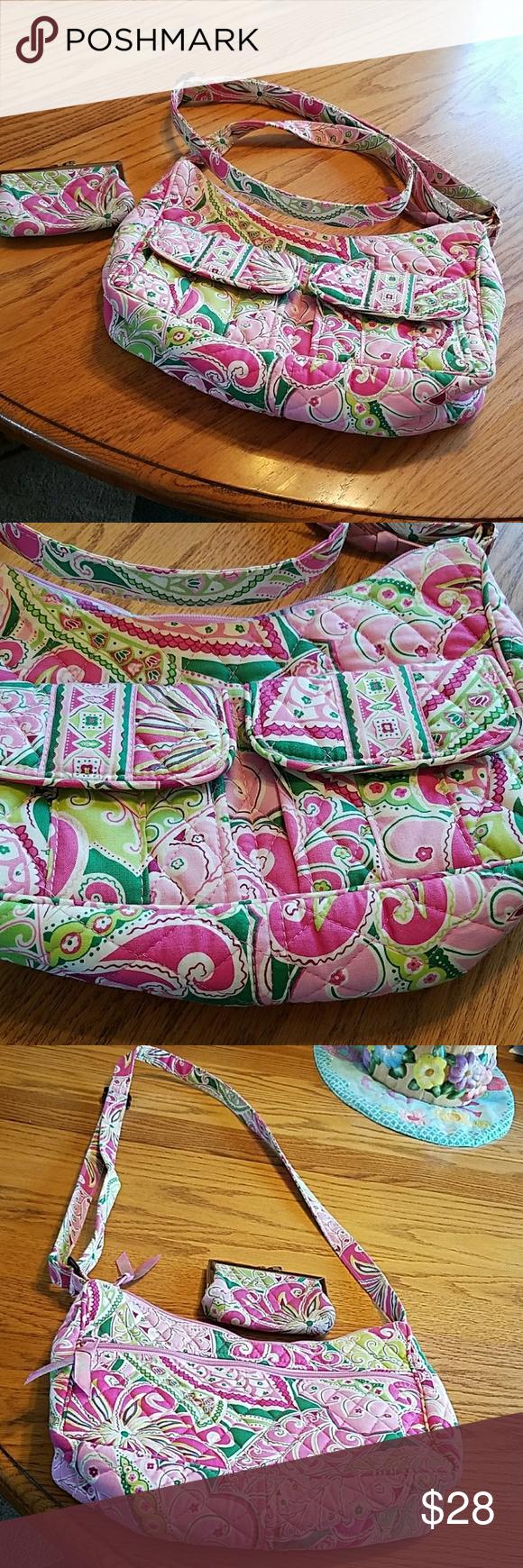 Vera Bradley crossbody bag | Bolsas, Carteras/monederos y Rosa