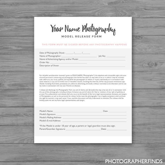 Model Release Form Template Other Cool Products Pinterest - model release form