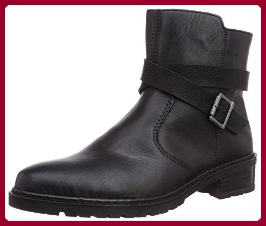 Rieker Z1951 01, Damen Halbschaft Stiefel, Schwarz (schwarz