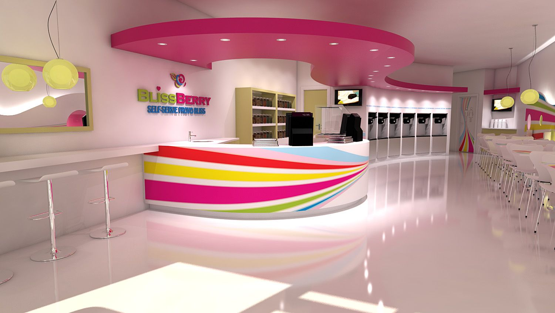 Frozen Yogurt Store Design Self Serve