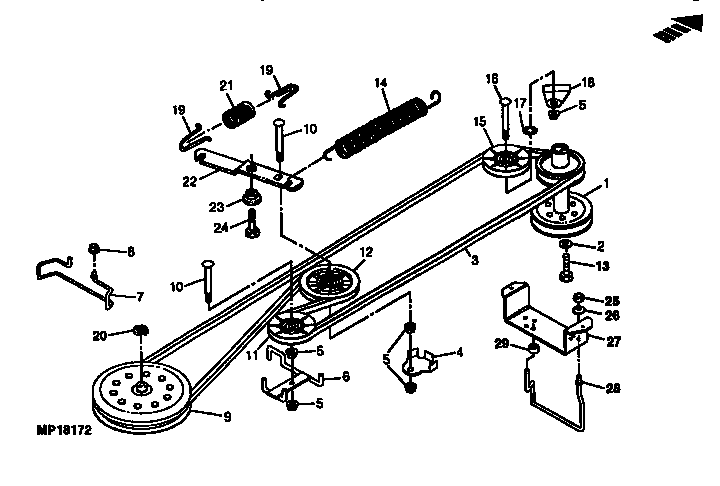 john deere lawn mower parts diagrams